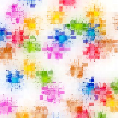 imprinted: white texture withbright colored  imprinted blur squares Stock Photo