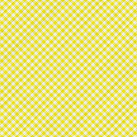 seamless texture of yellow and white blocked tartan cloth photo