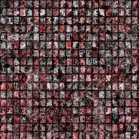 texture of many dirty red to grey tiles Stock Photo - 4864803