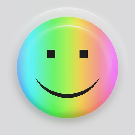 multicolored smiling face symbol on white background Stock Photo - 4911427