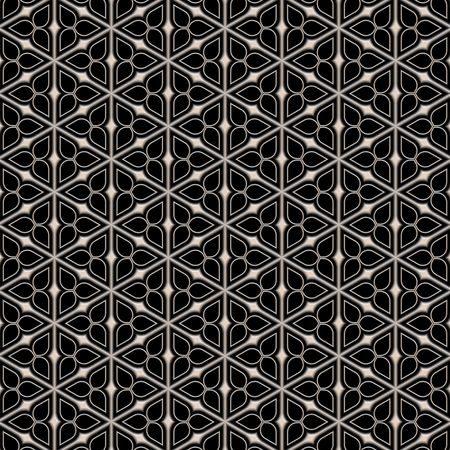seamless texture of metallic triangle shapes on black background Stock Photo - 4911430
