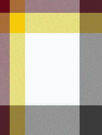 blank center: woven texture in retro colors with blank center Stock Photo