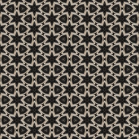 seamless texture of metallic shapes on black background Stock Photo - 4963971