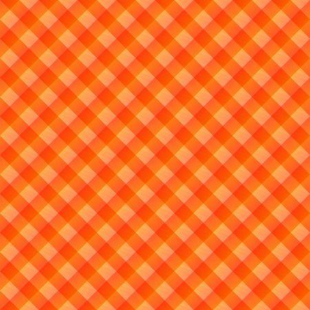 seamless texture of orange to red blocked tartan cloth photo