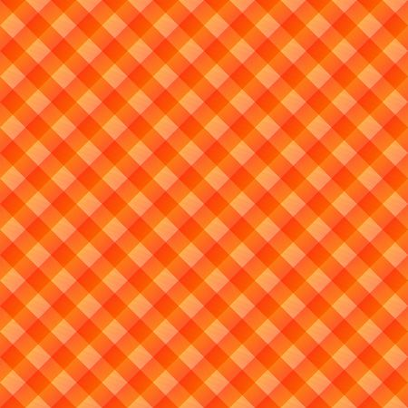seamless texture of orange to red blocked tartan cloth