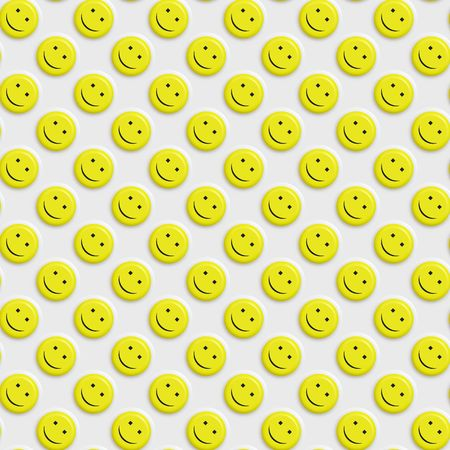 seamless texture of many 3d yellow smiley faces photo