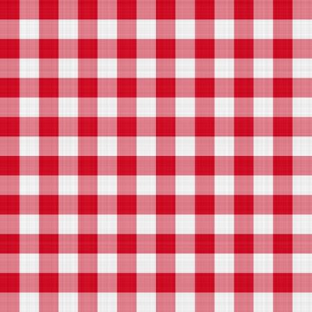 manteles: perfecta textura de color rojo y blanco de tela de tart�n bloqueado