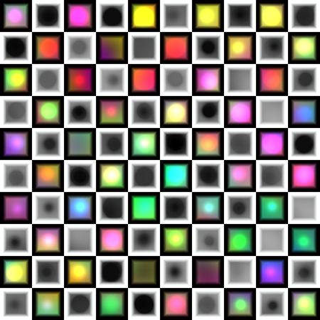 seamless colorful texture of blocks and dots