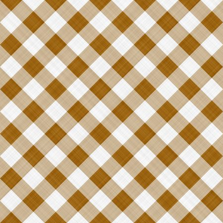on the tablecloth: seamless texture ofsepia brown and white blocked tartan cloth