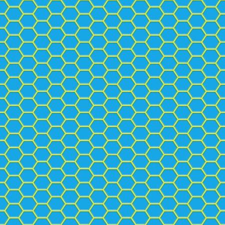 seamless 3d texture of yellow geometric shapes on blue photo