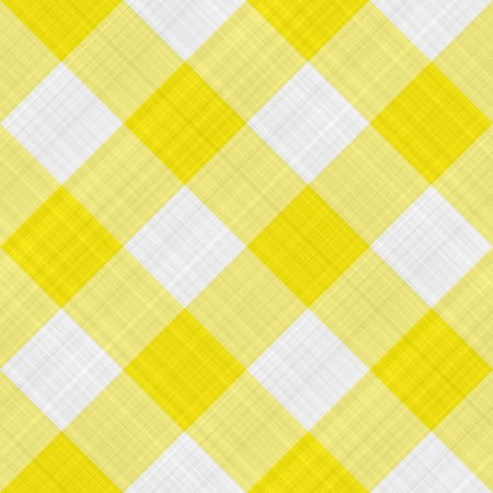 seamless texture of yellow and white blocked tartan cloth photo