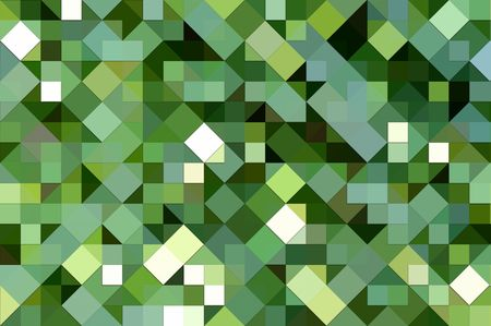 texture of 3d square and triangle shapes in various greens photo
