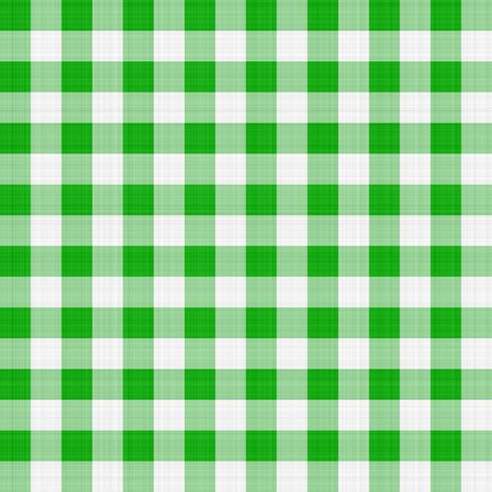 seamless texture of green and white blocked tartan cloth photo