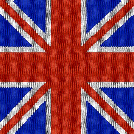 seamless texture of brittish national flag in knitted texture photo