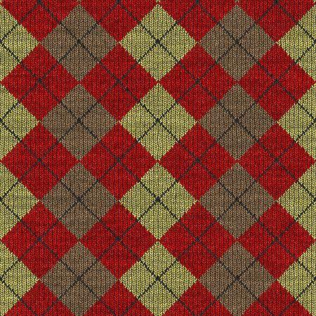 tejidos de punto: la textura perfecta de las plazas de algod�n a cuadros de punto de lana en color rojo, amarillo y marr�n