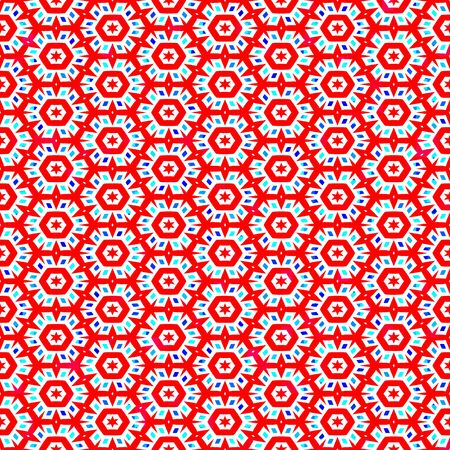 seamless texture of abstracted red snowflake like flowers