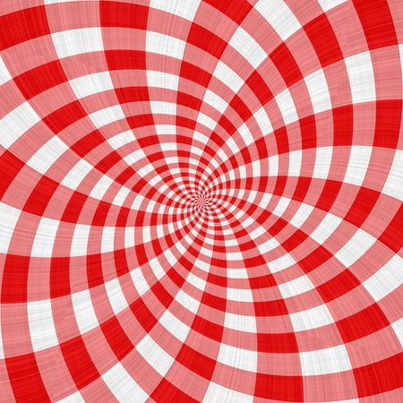 texture of swirling repeating red and white blocks Stock Photo