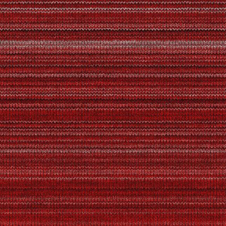 seamless 3d texture of red knitting structure in horizontal rows Stock Photo
