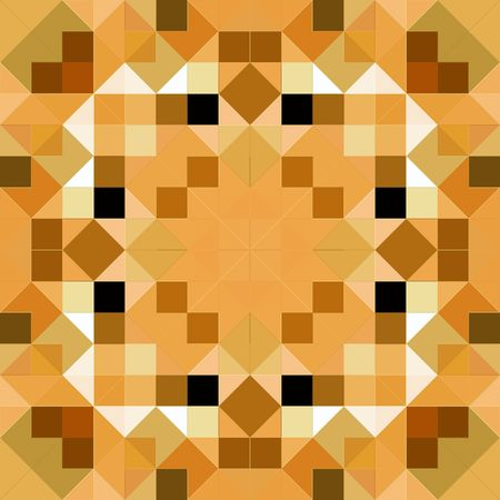 color tangram: seamless texture of beown glossy squares in a symmetric pattern