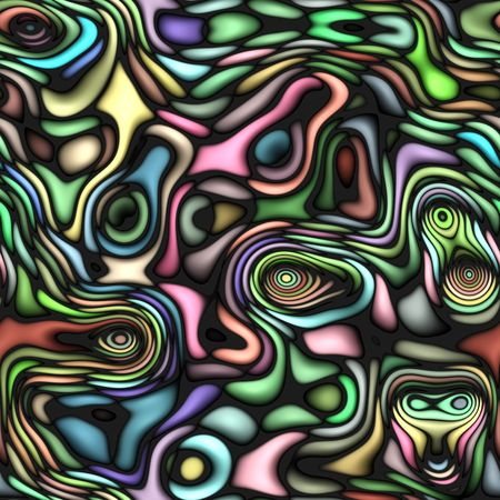 seamless texture of colorful blur rings on black