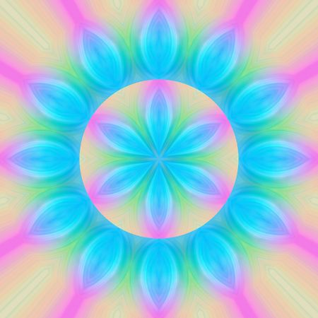 tantra: symbolic mandala flower shape in soft pastel colors Stock Photo