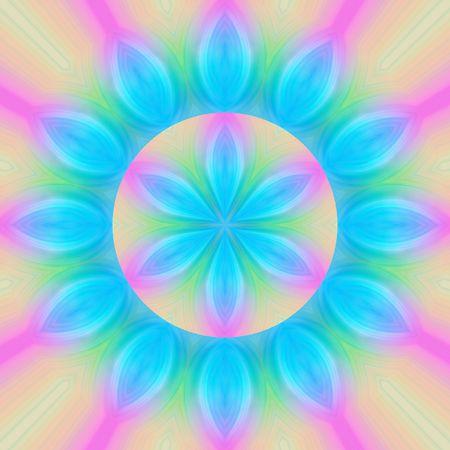 symbolic mandala flower shape in soft pastel colors Stock Photo