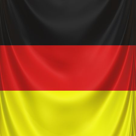 3d texture of waving national flag of Germany Stock Photo