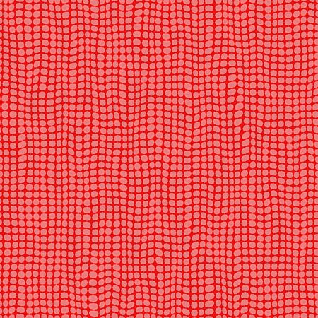 seamless fabric texture of waving points on red photo