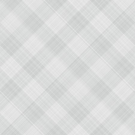 on the tablecloth: seamless texture of grey and white blocked tartan cloth Stock Photo