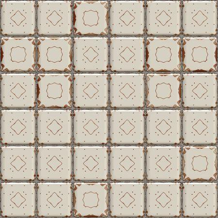 azulejos ceramicos: textura 3d transparente de azulejos de cer�mica de grunge viejos