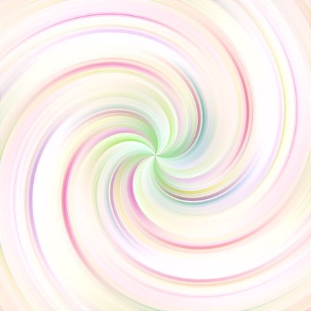 swirling abstract shape in soft pastel colors Stock Photo
