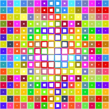 seamless texture of colorful squares with different white holes photo