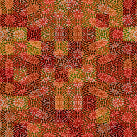 texture with abstract motifs on yellow to orange squares photo