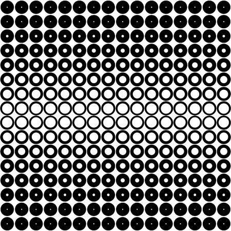 seamless texture with different open black circels on white