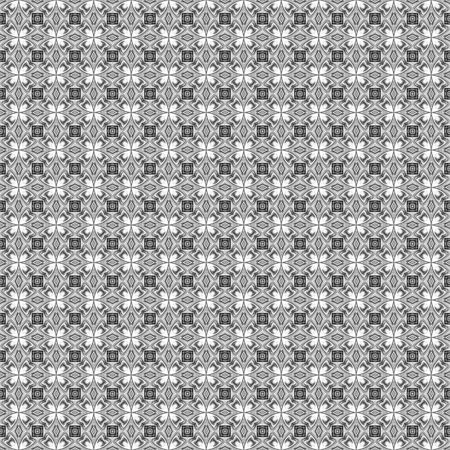 seamless texture of fine grey lines in to flowers on white Stock Photo