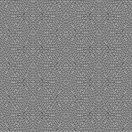seamless texture of monochrome grey lace in ornament structure Stock Photo