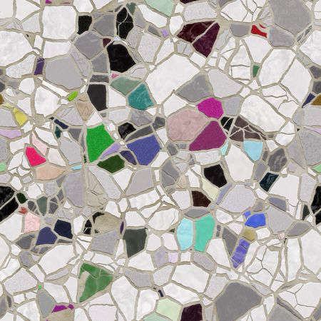 seamless texture of bright slate stone pieces in cement Stock Photo