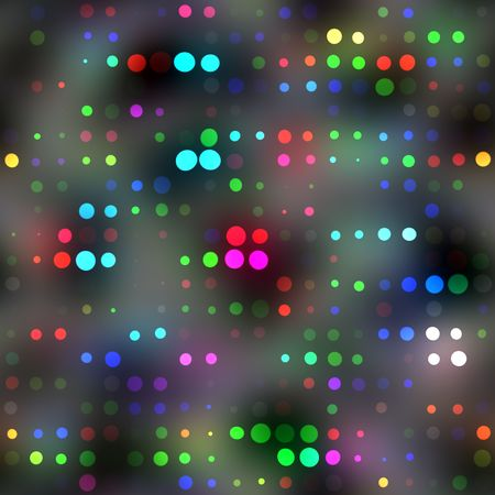 seamless texture of vibrant color rounds on a misty grey background Stock Photo