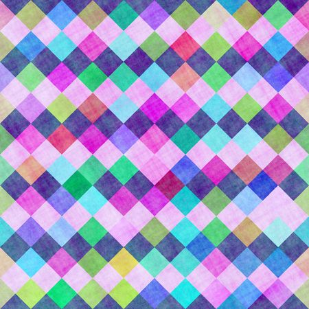 seamless texture of colored checkered fabric