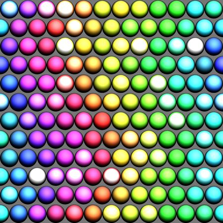 seamless pattern of marble spheres in prism colors photo