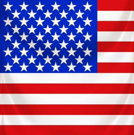 3d texture of national flag of america waving Stock Photo - 6414163