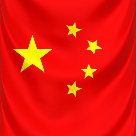 square 3d draped national symbol of China photo