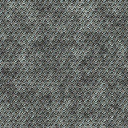 seamless texture of small triangle shapes in a metal palte photo