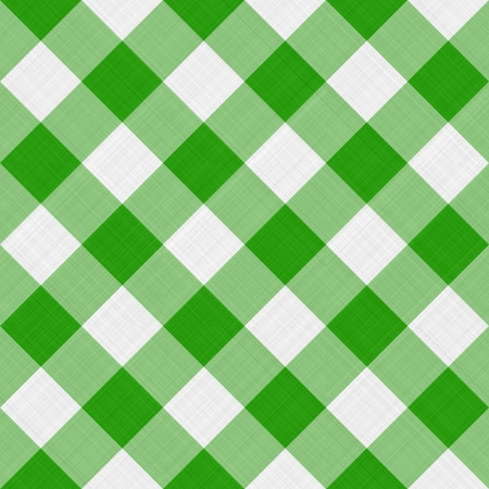 seamless diagonal picnic gingham pattern in fresh green and white Stock Photo