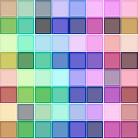 seamless texture with bordered bright cubes photo