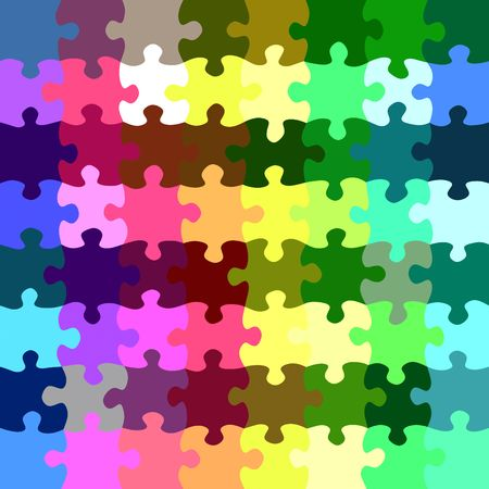 seamless texture of bright jigsaw parts  photo