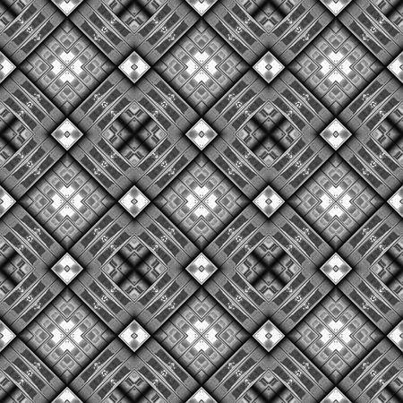 seamless texture of diagonal metal ornamental cubes  photo