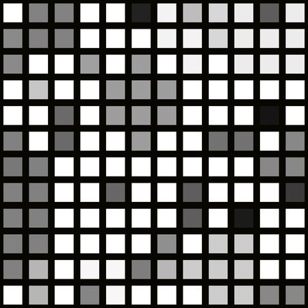 seamless texture of white, grey and black cubes