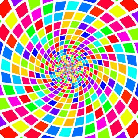 radial tiles swirl pattern Stock Photo