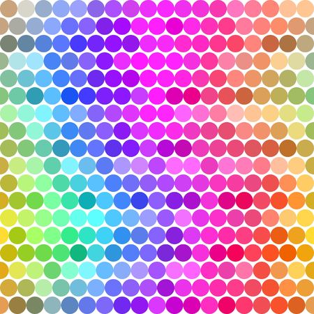 gamut: seamless texture with rounds in different colors